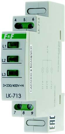 lk Указатель напряжения контрольная лампочка сигнализация  lk 713 Указатель напряжения контрольная лампочка сигнализация наличия отдельных фаз трехфазной сети